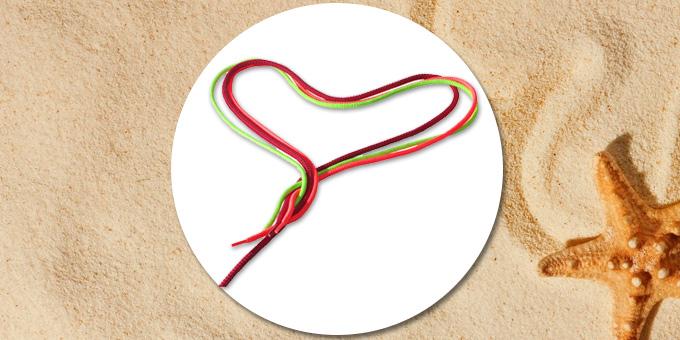 Manualidades con cordones de zapatillas: