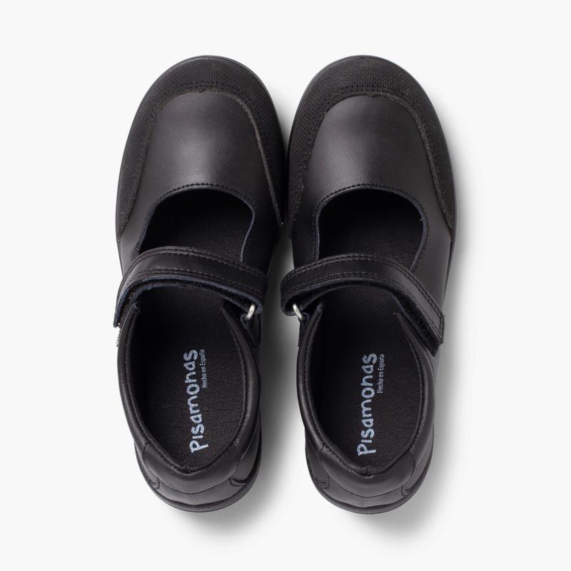 Zapatos Colegiales Niña Merceditas Puntera Reforzada