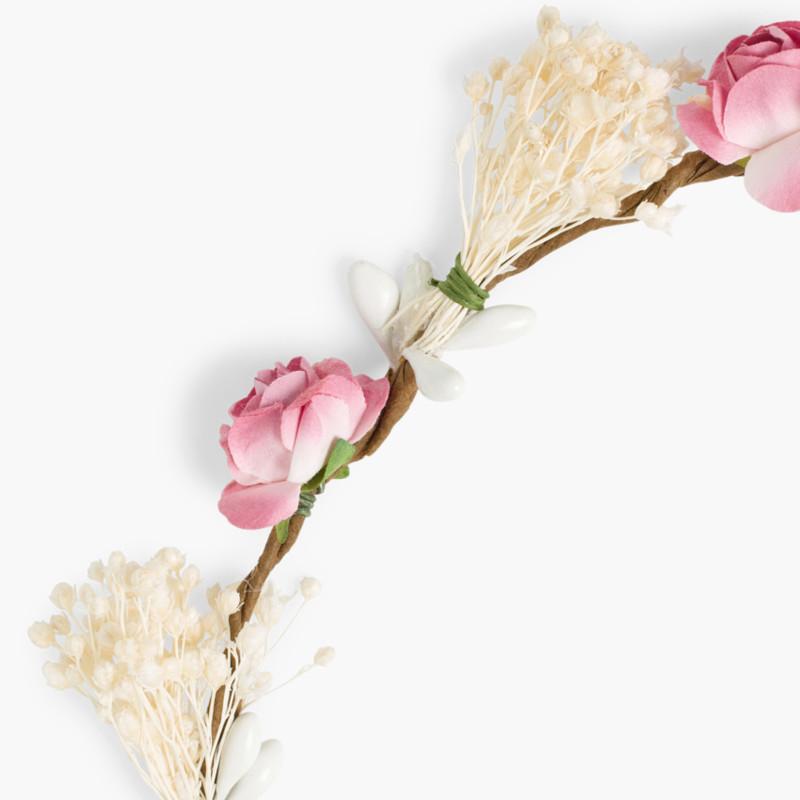 Corona sencilla flores y gypsophila
