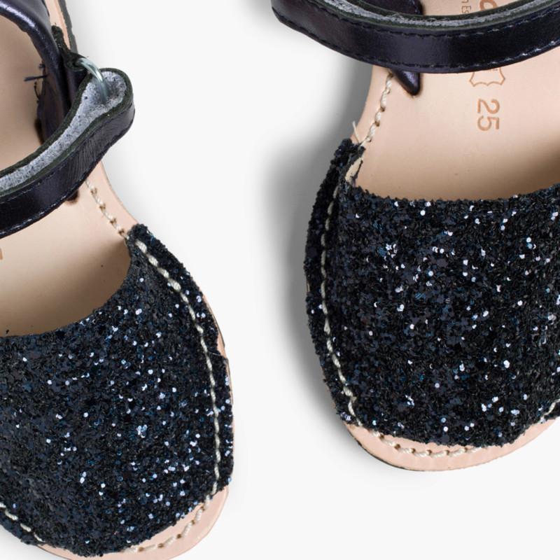 Menorquina Glitter con Velcro
