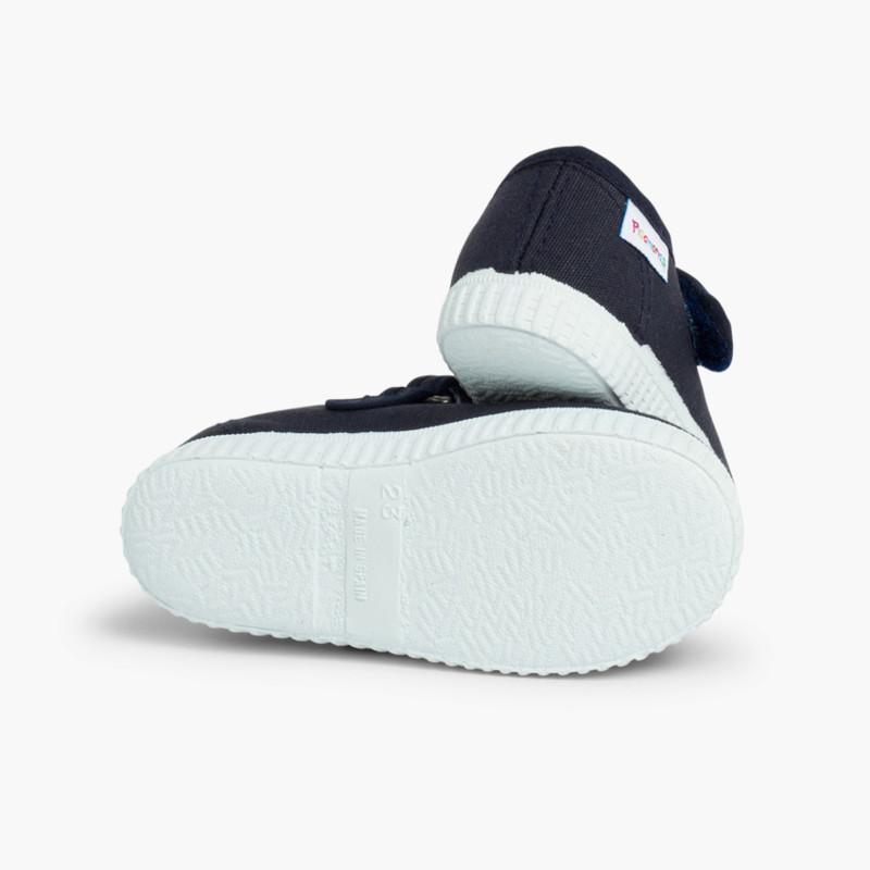 Merceditas Niña Velcro Suela tipo Zapatillas