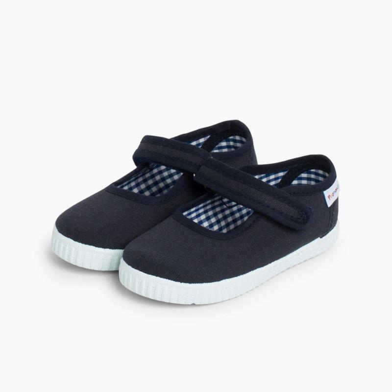 0394a2aee82 Merceditas Niña Velcro tipo Zapatilla. Zapatos Niñas