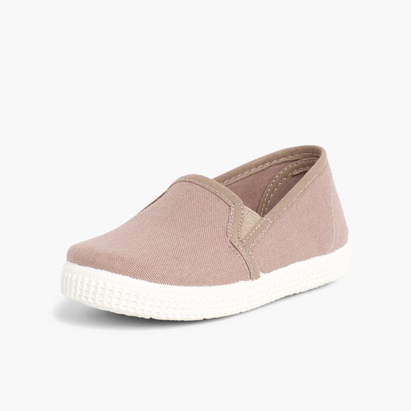7e58c92f0ba Zapatillas Lona con Elásticos. Zapatos Primeros Pasos
