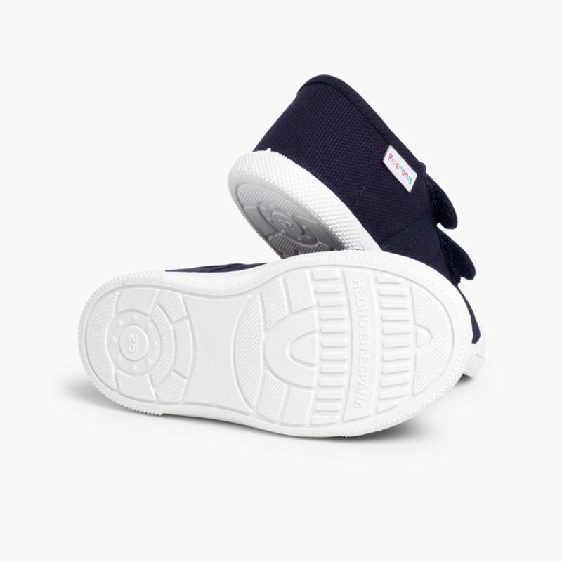 Zapatillas Niños Lona Velcro