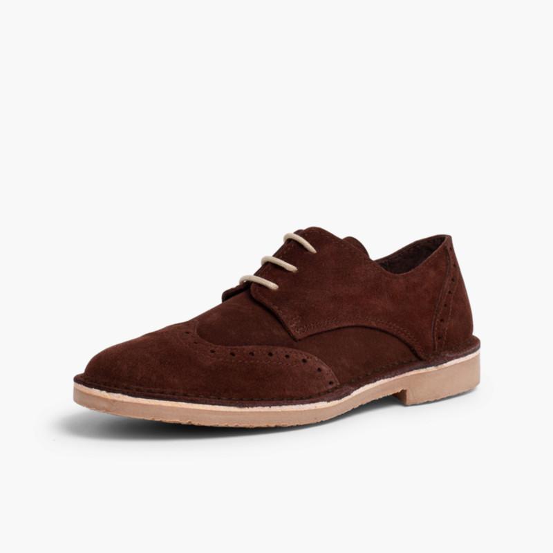 Zapato blucher picado