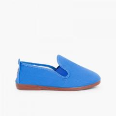 Zapatillas kung-fu camping Azulón