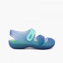 Zapatillas Playa Piscina Bondi Azul Marino y Verde