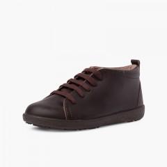 Zapatos Piel Tipo Botines Pisacacas Marrón