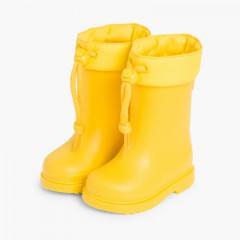 Botas de Agua para Niños Pequeños Igor cuello ajustable Amarillo