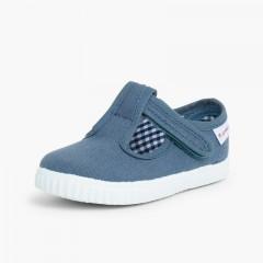 Pepitos Niños tira adherente    tipo zapatilla Azul Jeans