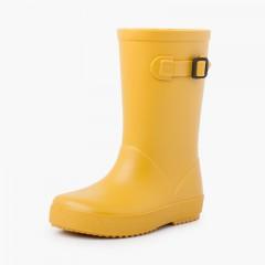 Botas agua hebilla colores pastel Amarillo
