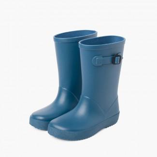 Botas agua splash hebilla colores empolvados Azul