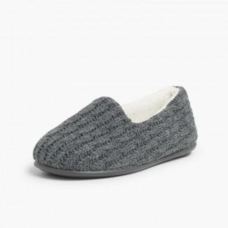 Zapatillas Casa Niños Tipo Lana  Gris
