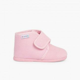 Zapatillas Casa Bota Pana Rosa