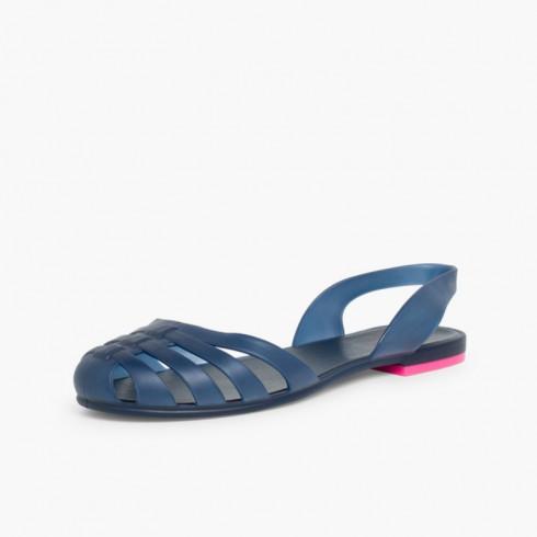 Sandalias de Goma para Mujer - Cangrejeras París  Azul Marino