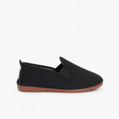 Zapatillas kung-fu camping Negro