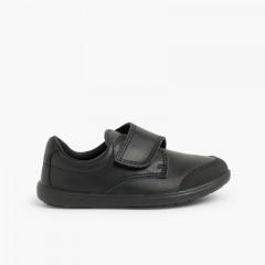 Zapato Colegial Lavable Niño con Puntera Reforzada  Negro