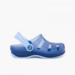 Zuecos de Goma Surfi para Niños  Azul Marino