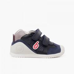 Zapatillas Biomecanics primeros pasos bicolor Azul Marino y Rojo