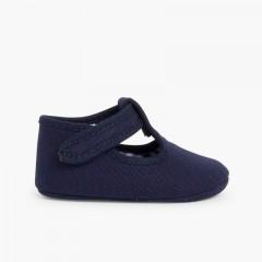 Badana Pepito Bebé Tela Velcro Azul Marino