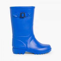 Botas de Agua para Niños Hebilla Azul