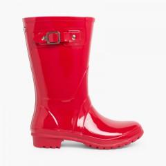Botas de Agua Mujer Mini Glow Rojo