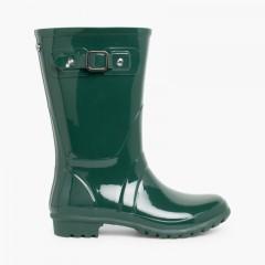 Botas de Agua Mujer Mini Glow Verde