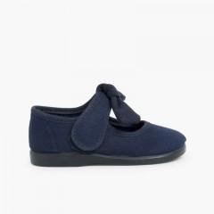 Mercedita Lona Velcro Tipo Angelito Azul Marino