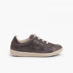 Zapatillas Sneakers para Niños Serraje  Gris