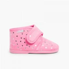 Zapatillas de Estar por Casa Bota Estrellitas Rosa