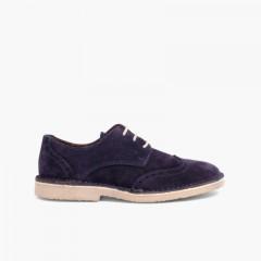 Zapato blucher picado Azul Marino