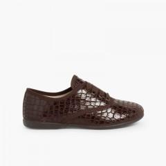 Zapatos Blucher Mujer y Niña Coco Marrón