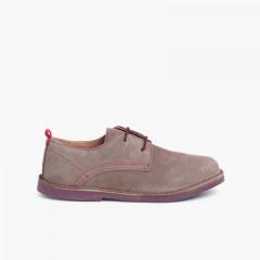 Zapatos Blucher Serraje Suela y Cordones Colores Gris