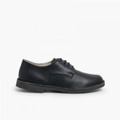 Zapatos Oxford Niño Piel Azul Marino