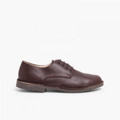 Zapatos Oxford Niño Piel Marrón