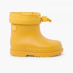 Botas agua niños pequeños colores pastel Amarillo