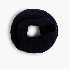Cuello Bufanda de Punto  Azul Marino