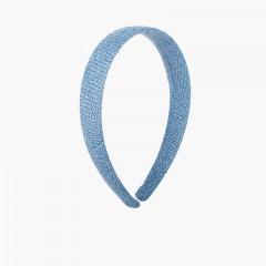 Diadema ancha tela de saco Azul Francia