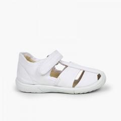Pepito sandalia velcro niño puntera reforzada Blanco