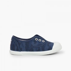 Zapatillas Camuflaje Niño Azul Marino
