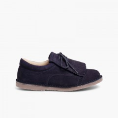 Zapatos Blucher Niños Flecos Azul Marino