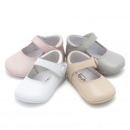 Badanitas Merceditas Bebé Piel Velcro
