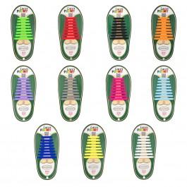 Cordones Elásticos de Colores Pack 20 Uds