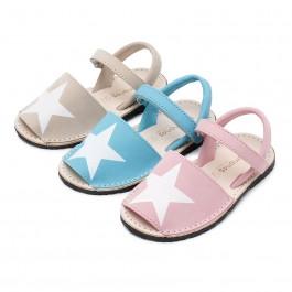Menorquinas Niños Nobuck con Estrella y Velcro