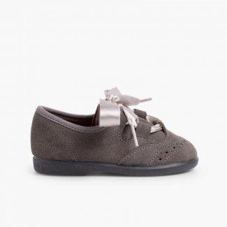 Zapato Inglés Niños en Serraje