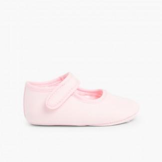 Badanitas Mercedita Bebé Tela Velcro Rosa