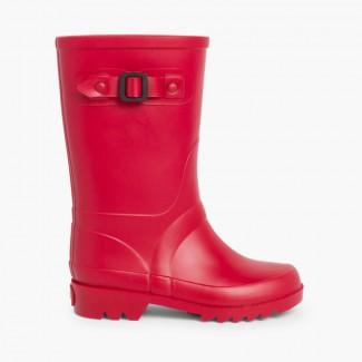 Botas de Agua para Niños Hebilla Rojo