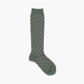 Calcetines de lunares Verde