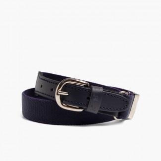 Cinturón Elástico Liso Niños Azul Marino