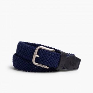 Cinturón Trenzado Elástico Niños Azul Marino